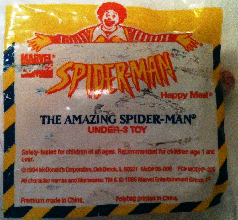 McDonalds 1995 Amazing Spider-Man Spider-Man Figure