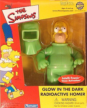 Toyfare Exclusive GITD Radioactive Homer