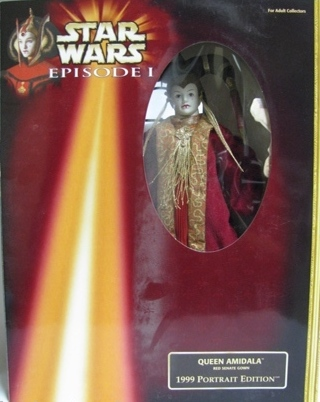 1999 Portrait Ed Queen Amidala Red Senate Gown