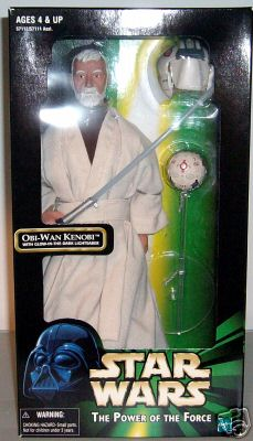 Obi-Wan Kenobi with Glow-in-the-Dark Lightsaber