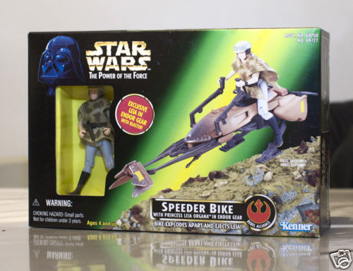 Speeder Bike with Princess Leia Organa in Endor Gear