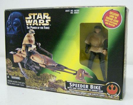 Speeder Bike with Luke Skywalker in Endor Gear