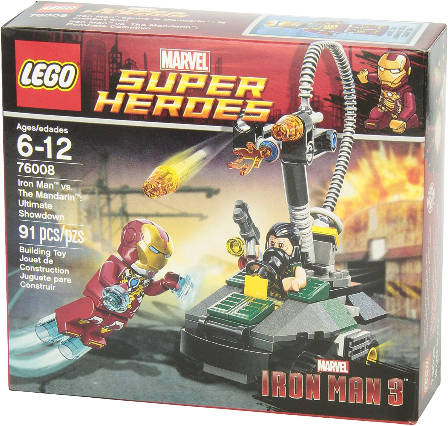 Super Heroes Iron Man vs. The Mandarin Ultimate Showdown (76008)